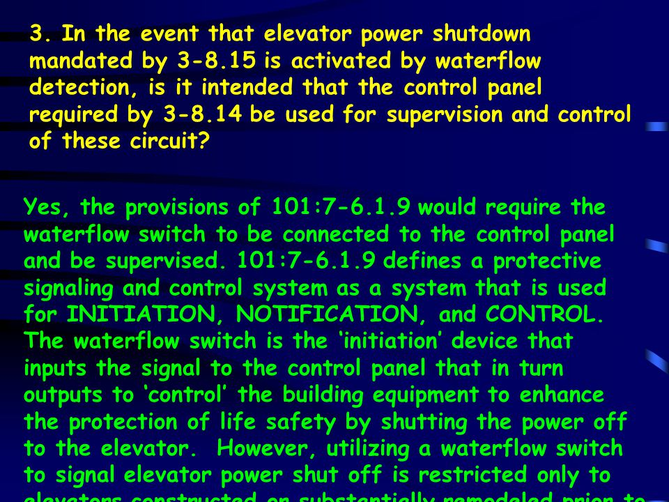 No, per NFPA 72:3-8.14, a listed control panel shall be required (whether it is dedicated to the elevator or it is part of a building fire alarm panel).