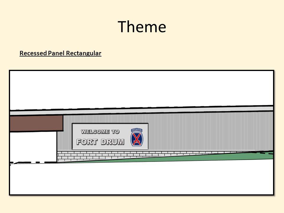 Theme Recessed Panel Rectangular