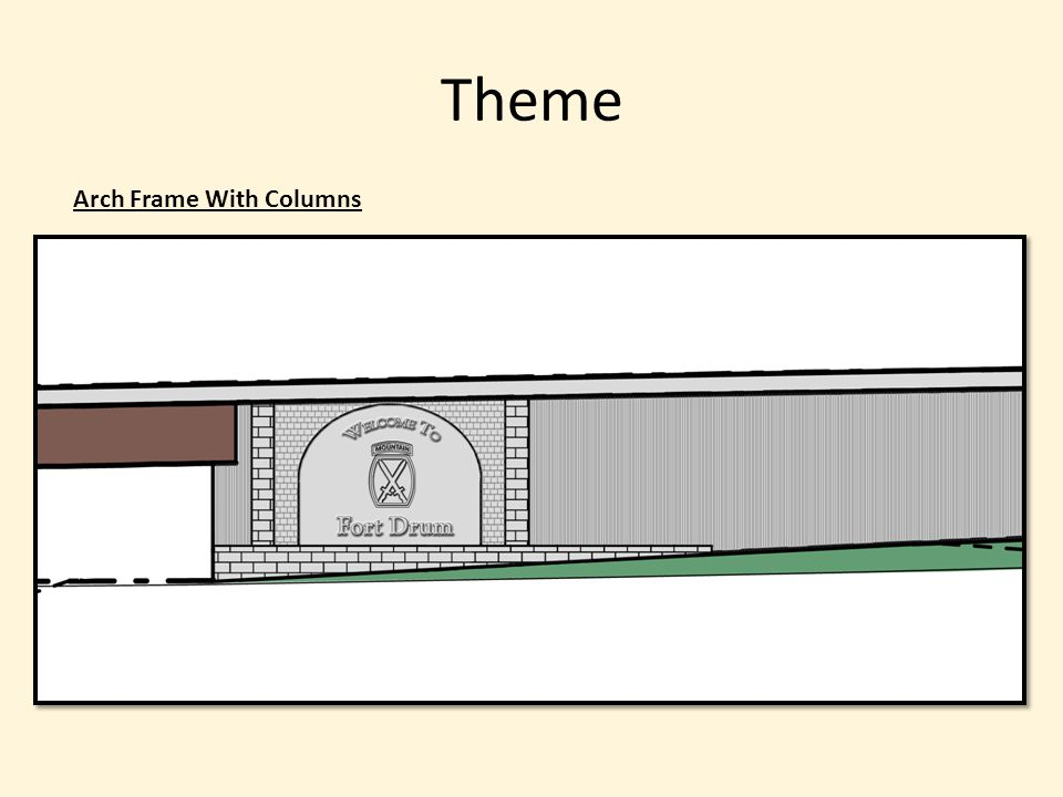 Theme Arch Frame With Columns