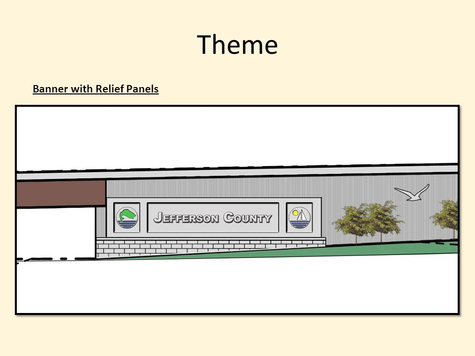 Theme Banner with Relief Panels