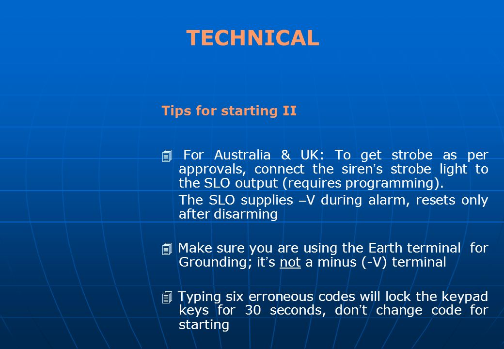 TECHNICAL SEMINAR Control Panels II Tips for starting (cont.) Try the hold-down functions. Hold each key for approximately 2 seconds; follow the confi