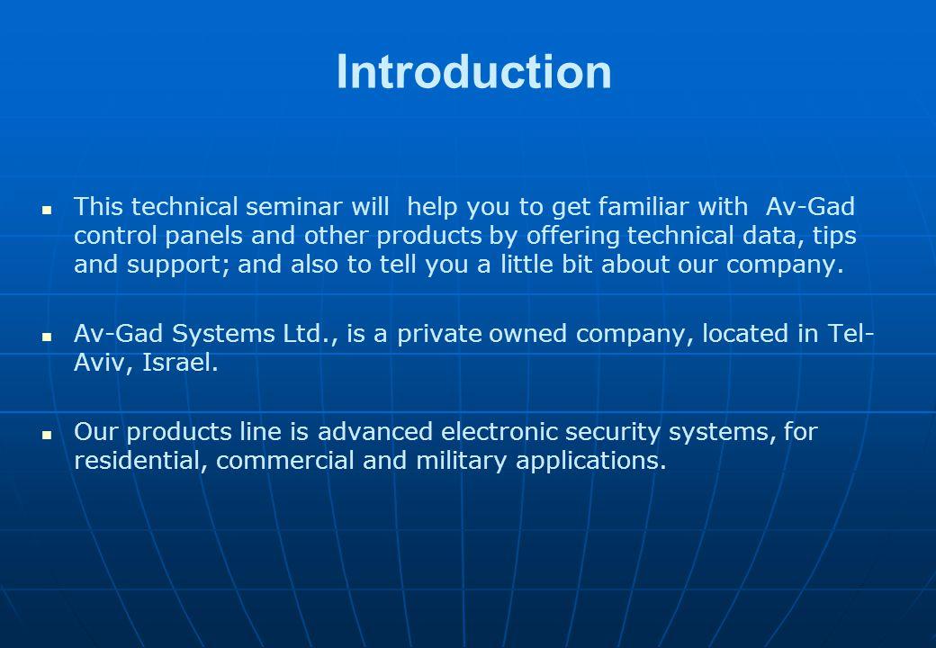 Short Alarm Systems Technical Seminar Year 2013
