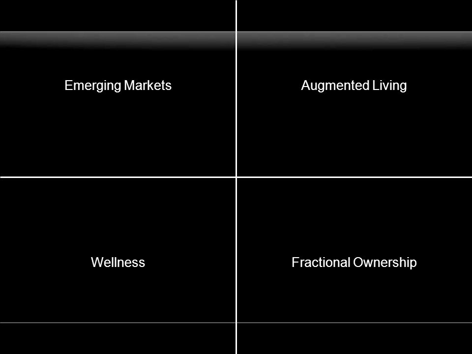 Emerging MarketsAugmented Living WellnessFractional Ownership