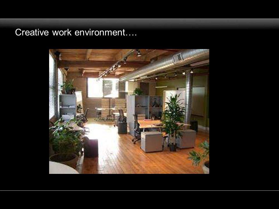Creative work environment….