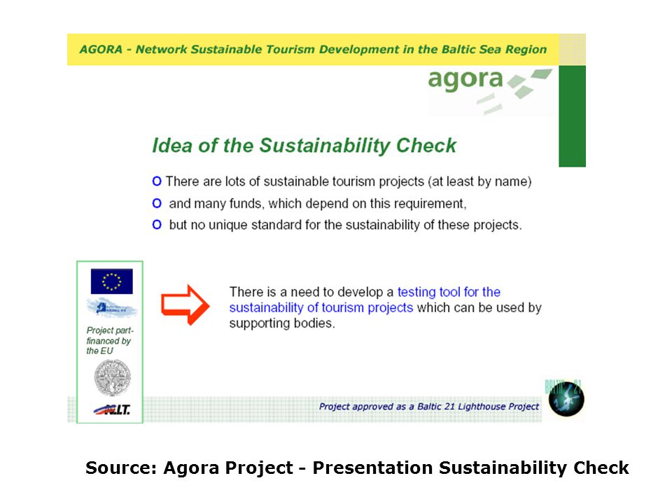 Source: Agora Project - Presentation Sustainability Check