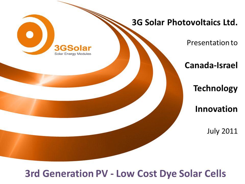 3G Solar Photovoltaics Ltd.
