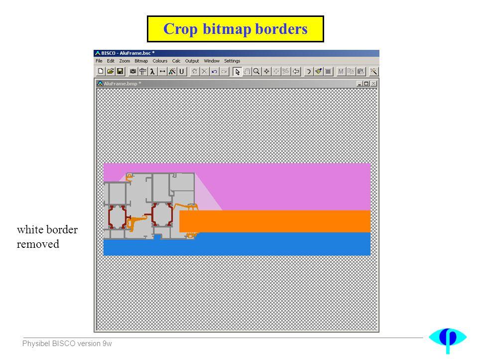 Physibel BISCO version 9w Crop bitmap borders white border removed