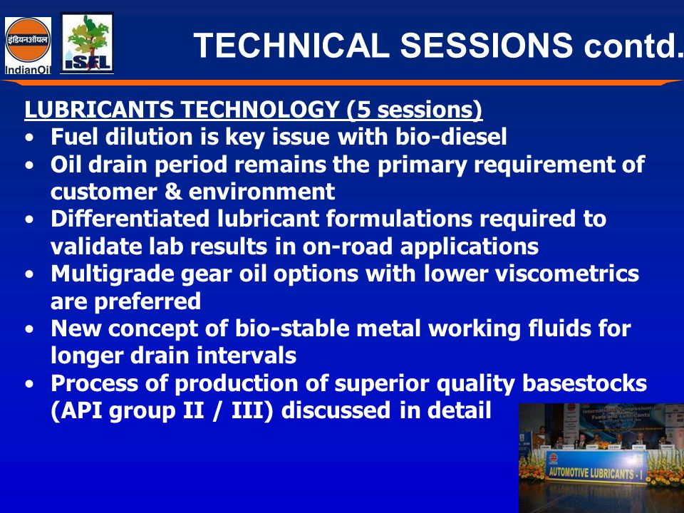 TECHNICAL SESSIONS contd..