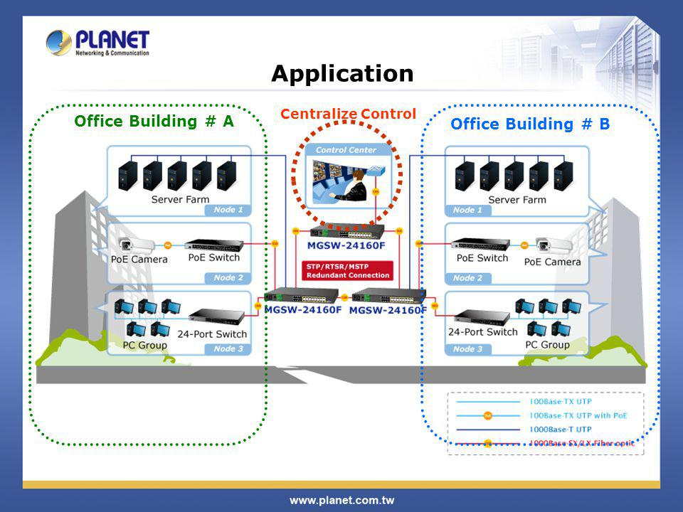Application Office Building # A Office Building # B Centralize Control