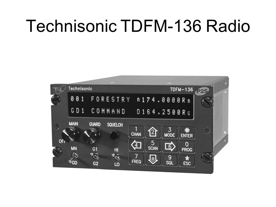 Technisonic TDFM-136 Radio