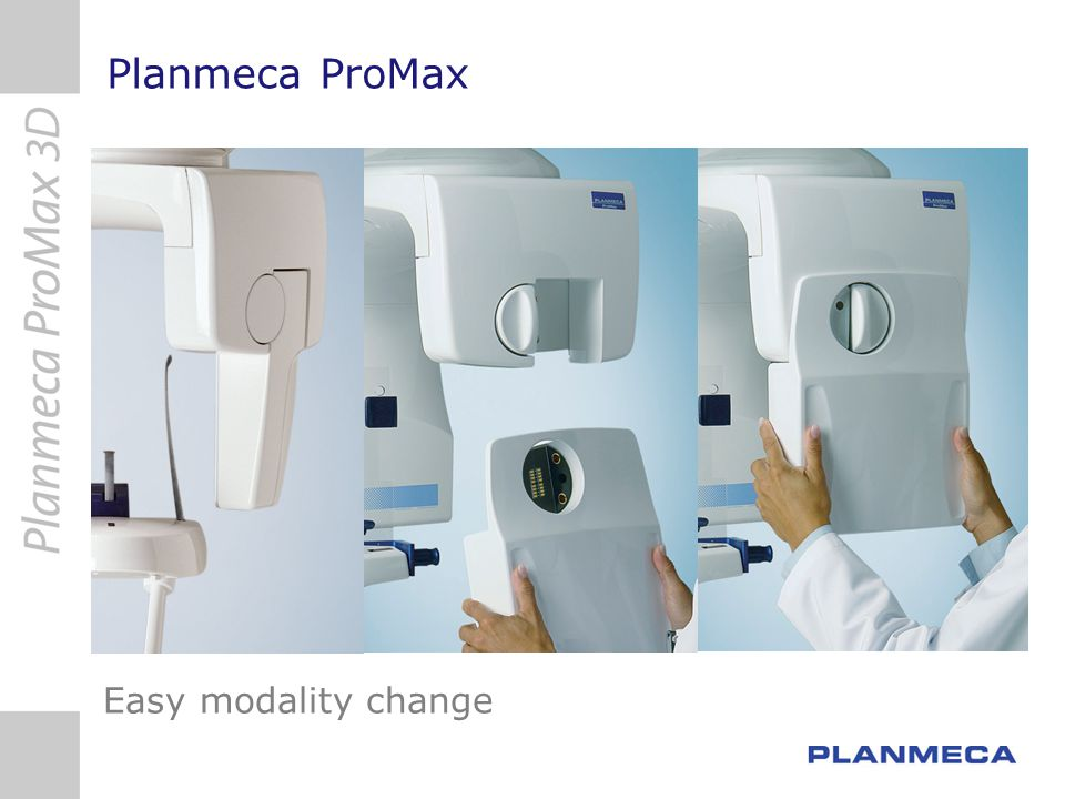 Planmeca Romexis 3D Cross Sections and Implant planning modules 3D panoramic with adjustable cross section views Mandibular nerve marking Measurements Implant placement Implant models