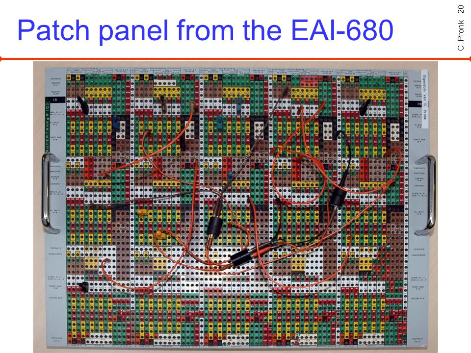 C. Pronk 20 Patch panel from the EAI-680