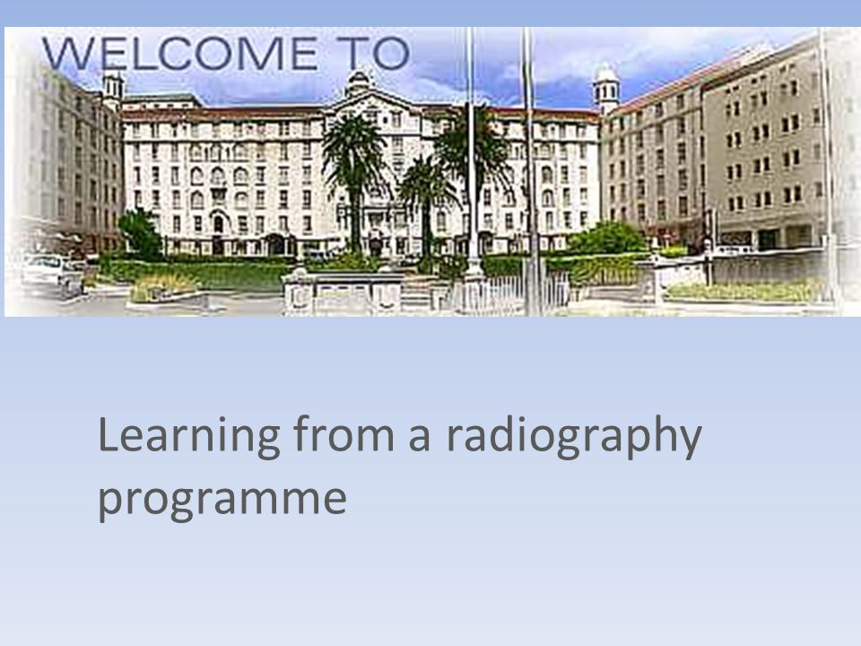 Learning from a radiography programme