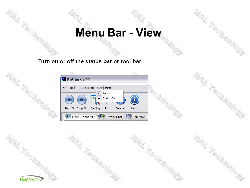 Menu Bar - File