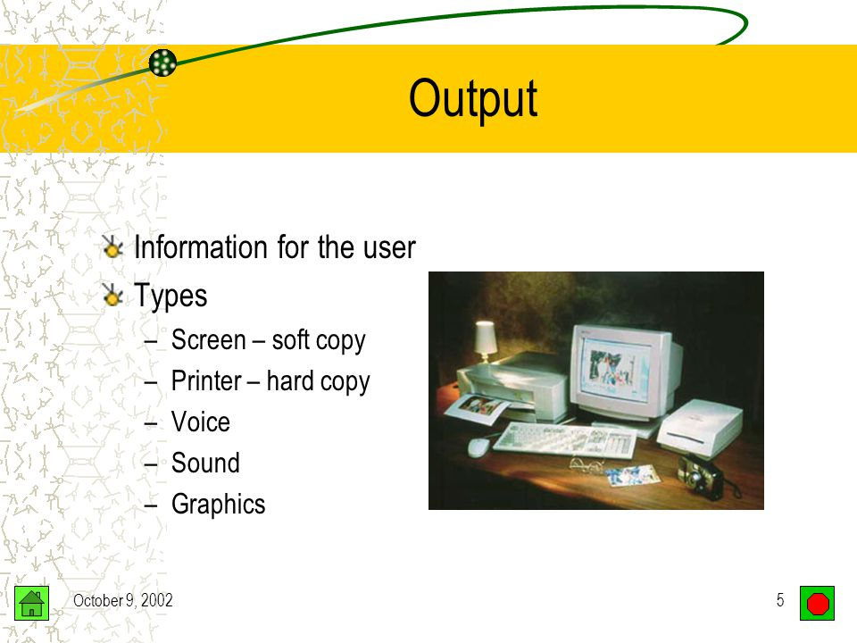 October 9, 200225 Nonimpact Printer Choose based upon: Speed Quality Black & white vs. color Price