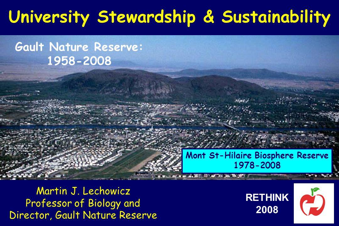 University Stewardship & Sustainability Martin J.