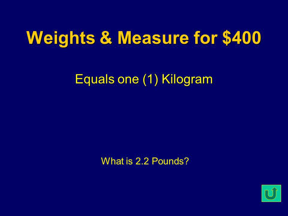 Weights & Measure for $300 22 o C or 72 o F What is Room Temperature?