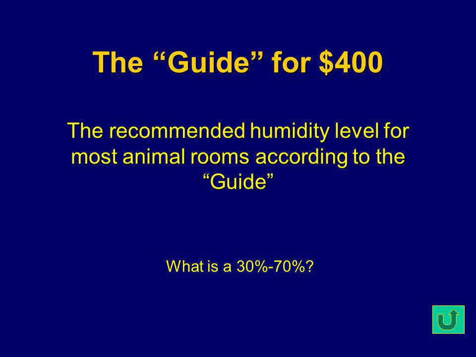 The Guide for $300 The organization who uses the Guide to establish criterion for voluntary accreditation.