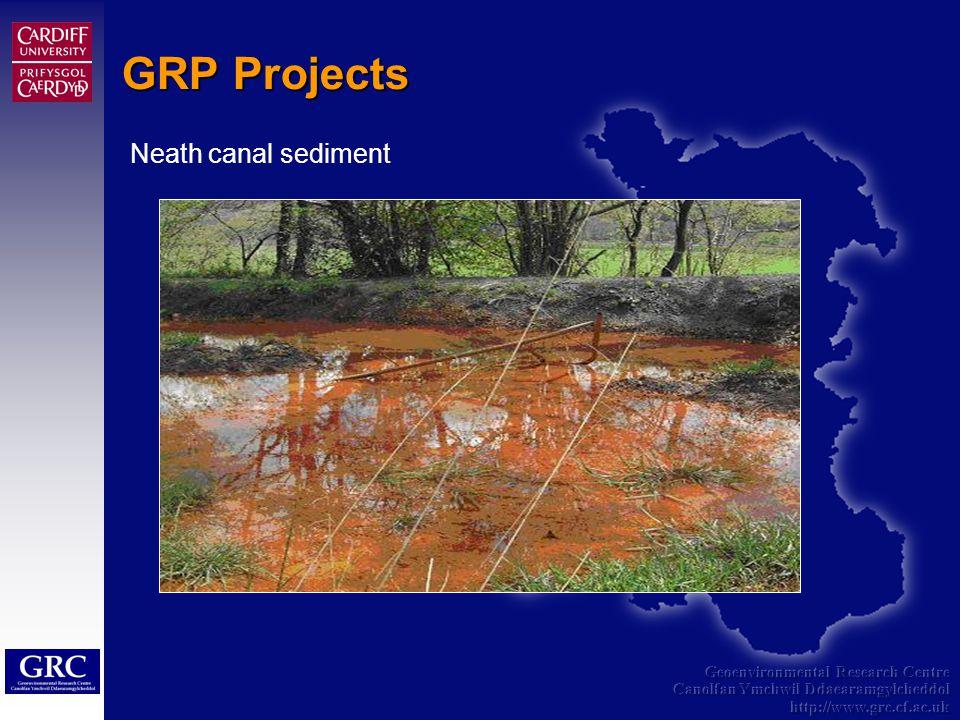 Geoenvironmental Research Centre Canolfan Ymchwil Ddaearamgylcheddol http://www.grc.cf.ac.uk GRP Projects Neath canal sediment