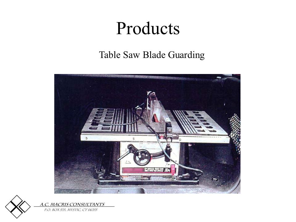 Products Table Saw Blade Guarding