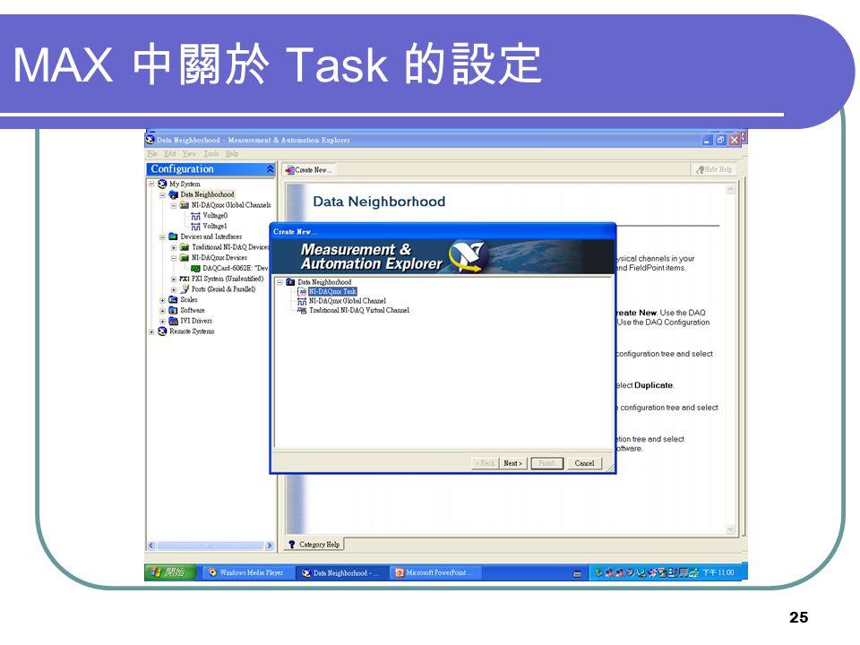 25 MAX Task