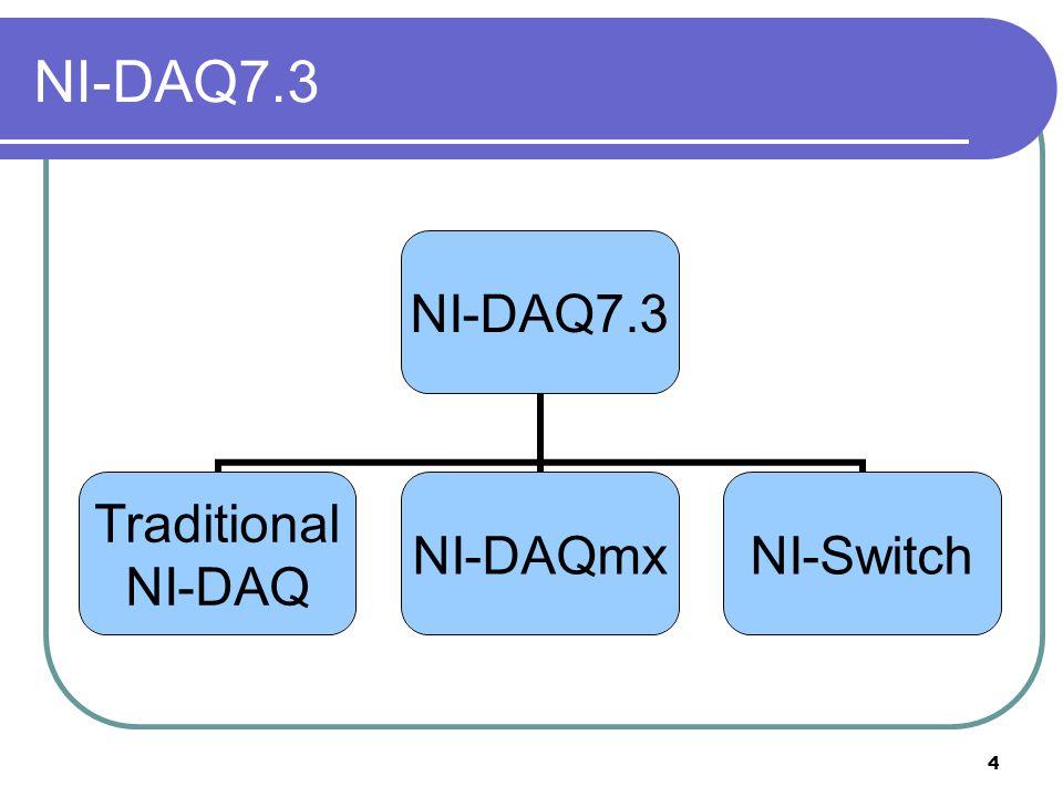 4 NI-DAQ7.3 Traditional NI-DAQ NI- DAQmx NI-Switch