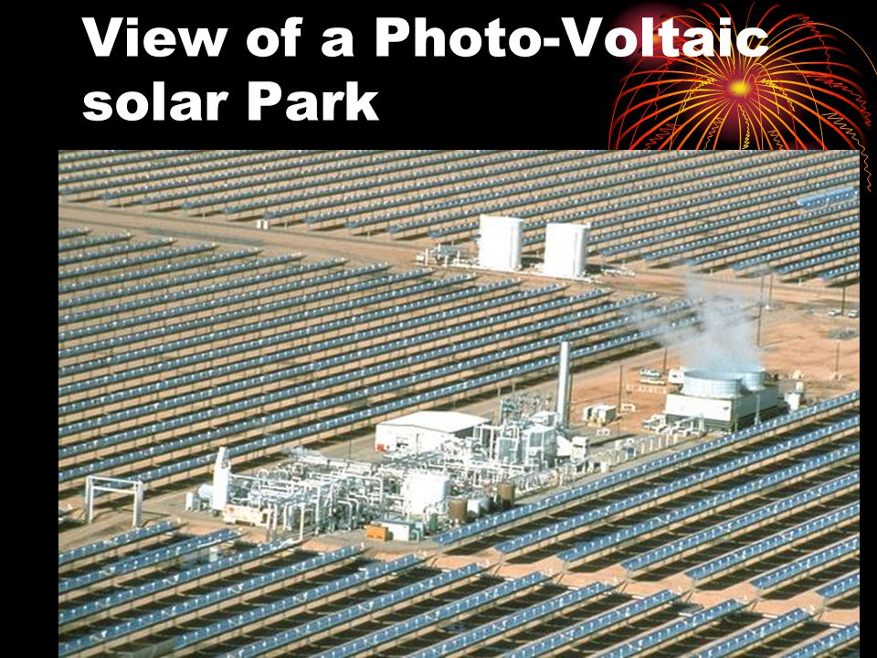 View of a Photo-Voltaic solar Park
