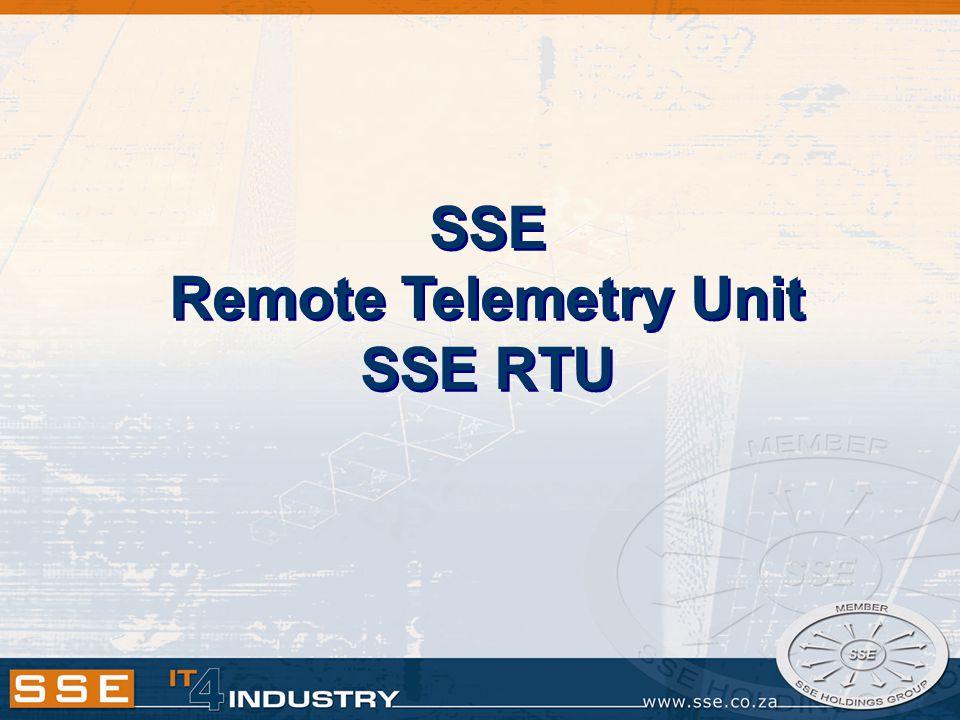 SSE RTU-12 Features…cont.RTU-12 Summary: Monitor discrete I/O.