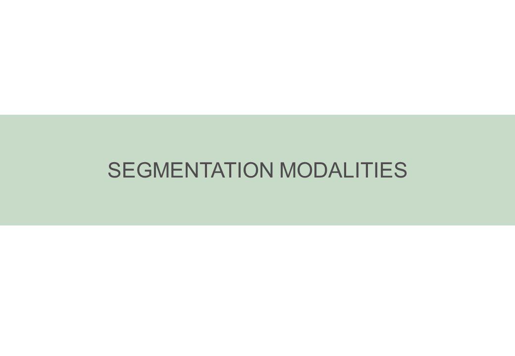 SEGMENTATION MODALITIES