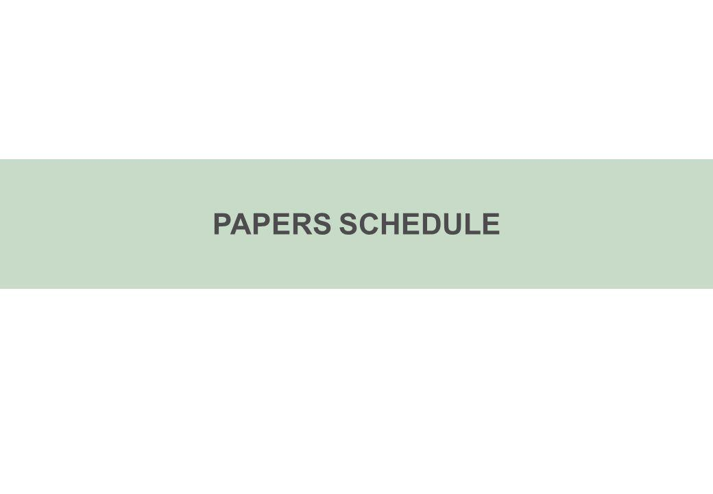 PAPERS SCHEDULE