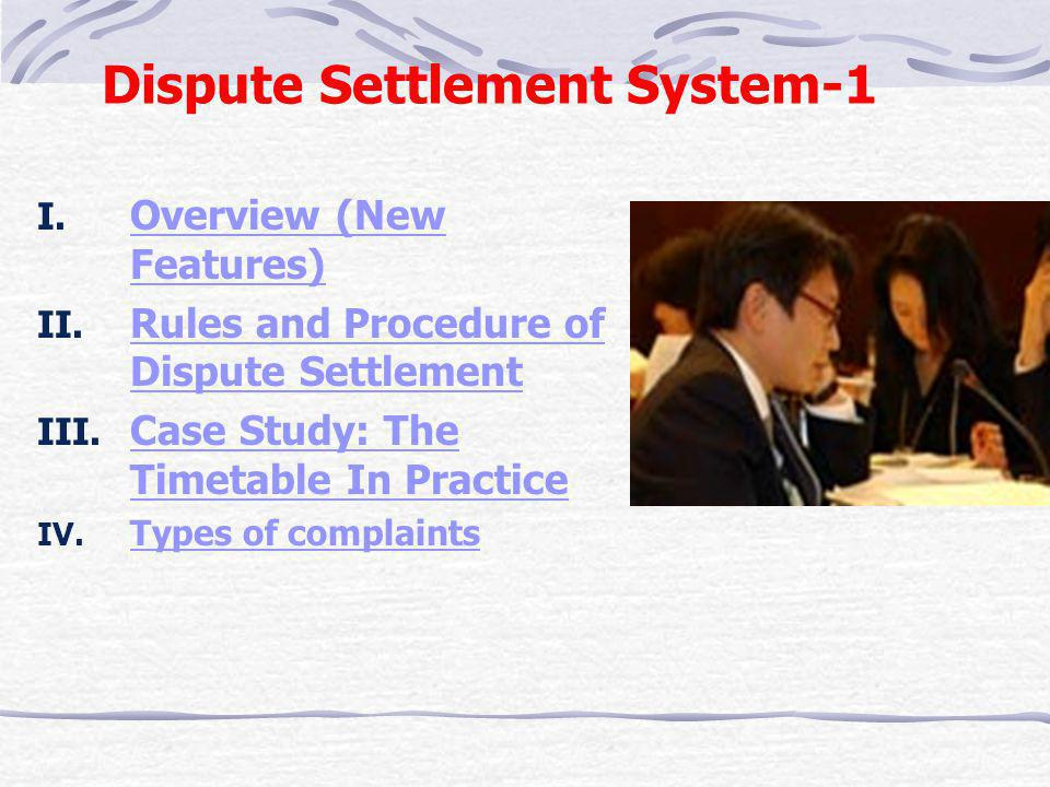 Chapter 3 Dispute Settlement System and Trade Policy Review Mechanism 14/21-SEP-2006