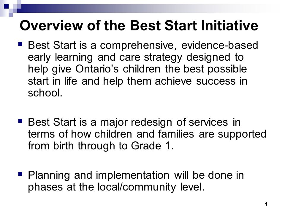 2 Impacts for Parents and Children Best Start is a partnership with parents and families.