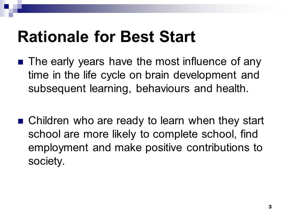 24 Task 1: Best Start Networks Bring together community partners and parents to establish Best Start Networks.