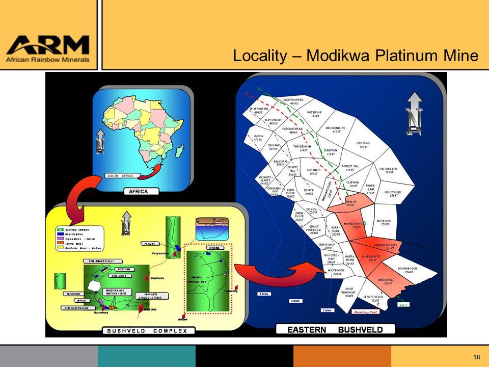 18 Locality – Modikwa Platinum Mine