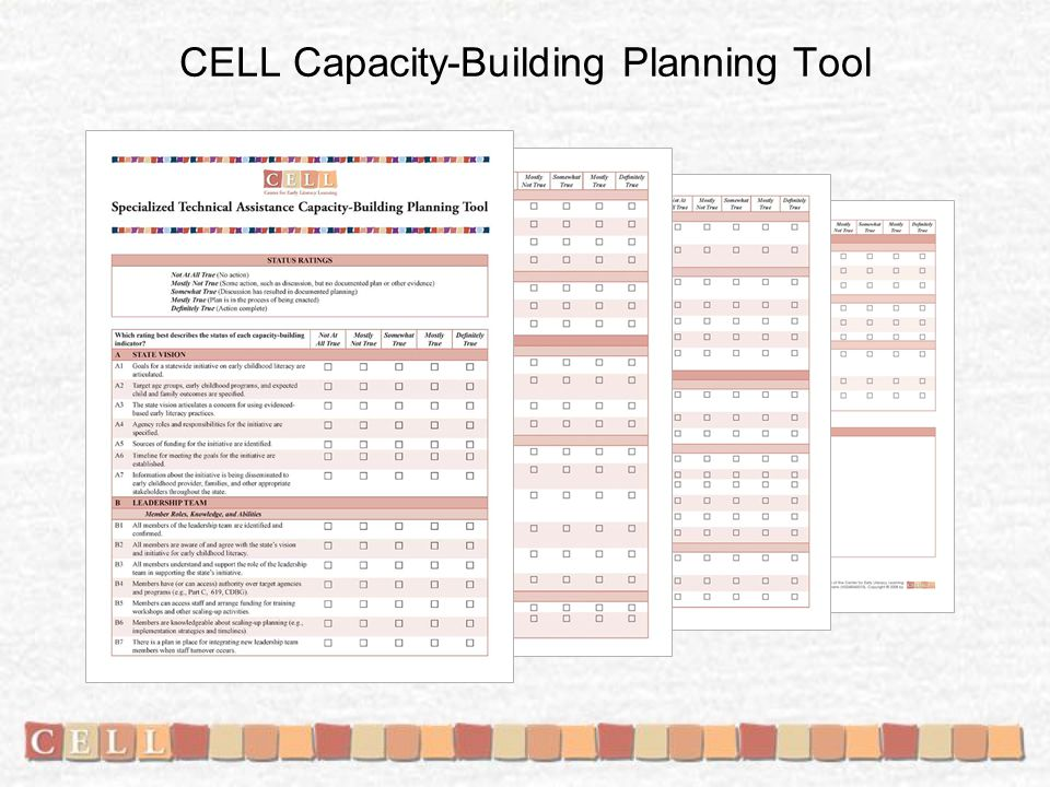 CELL Capacity-Building Planning Tool