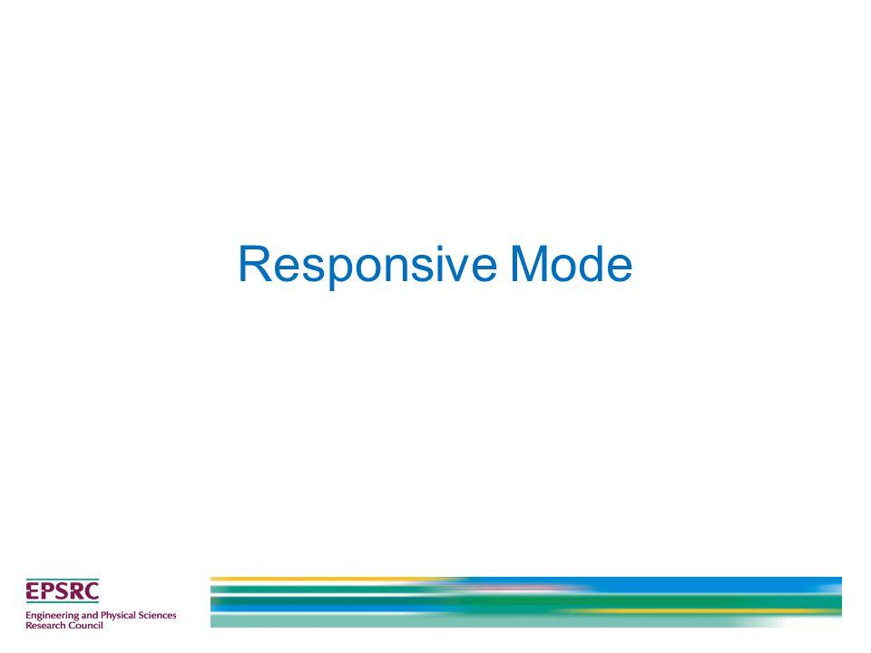Responsive Mode