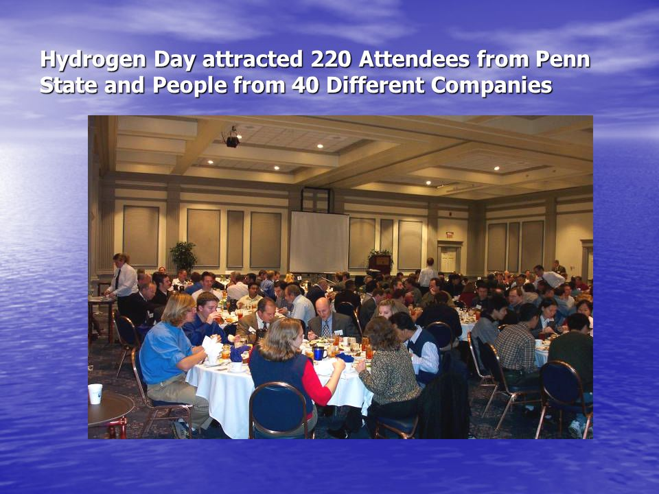 Hydrogen Day attracted 220 Attendees from Penn State and People from 40 Different Companies
