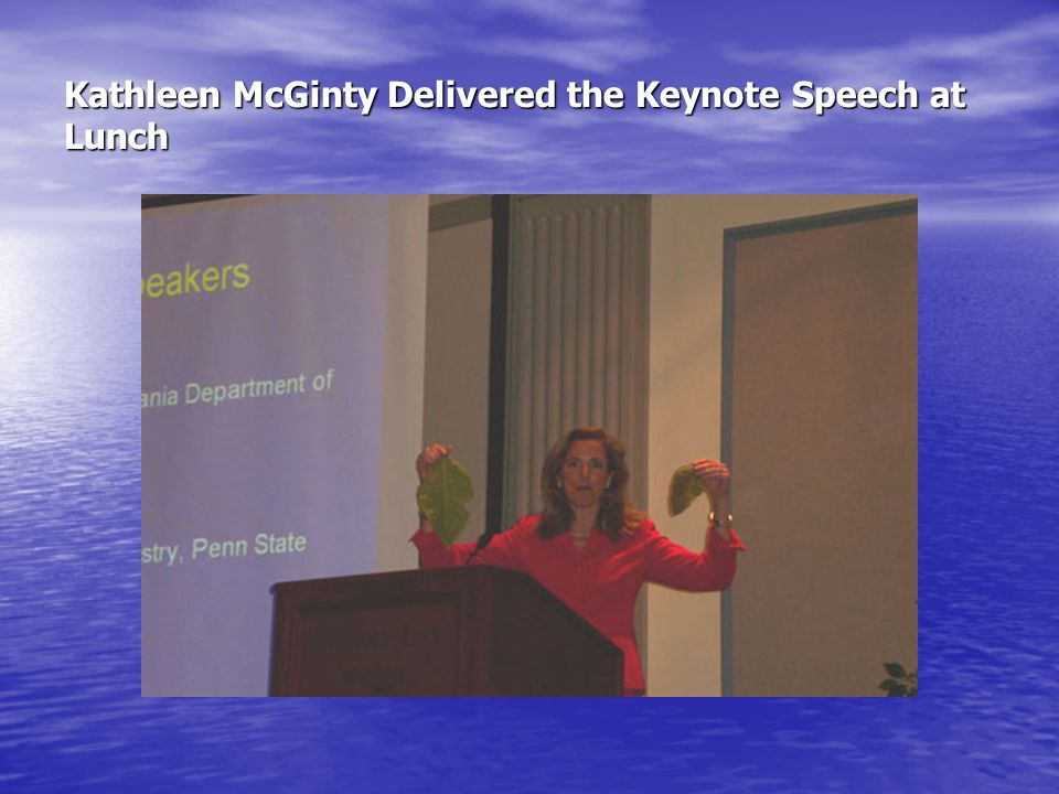 Kathleen McGinty Delivered the Keynote Speech at Lunch