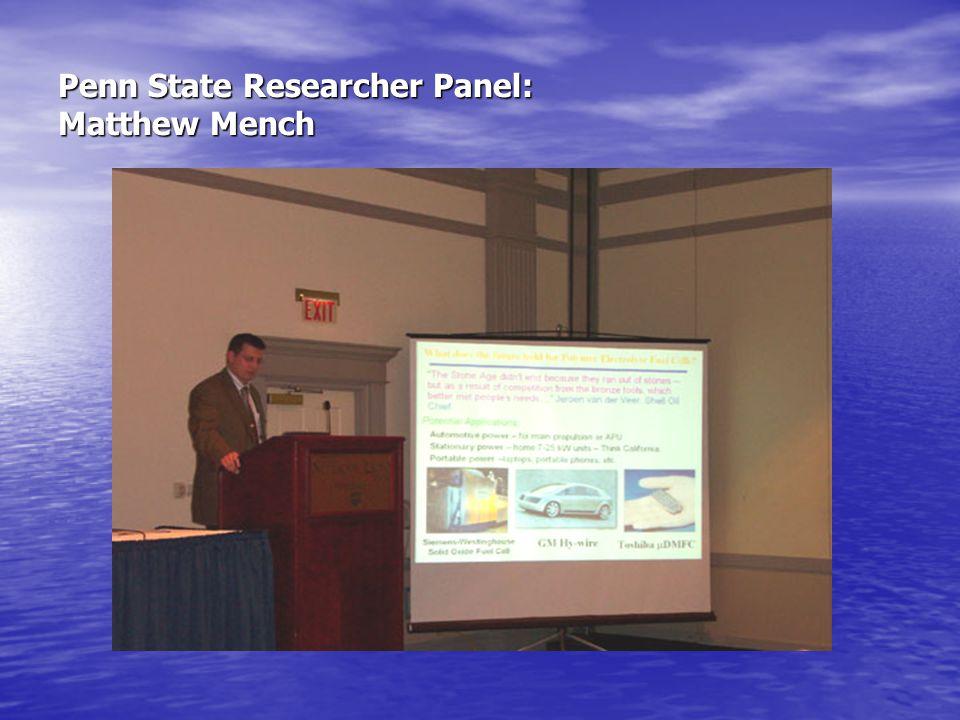 Penn State Researcher Panel: Matthew Mench