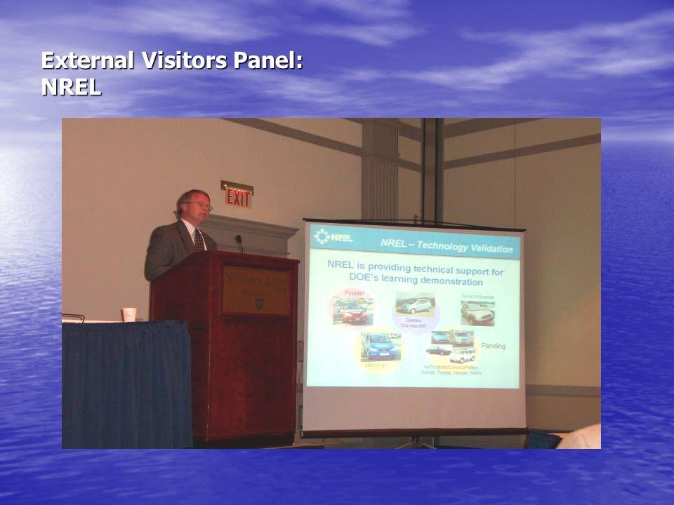 External Visitors Panel: NREL
