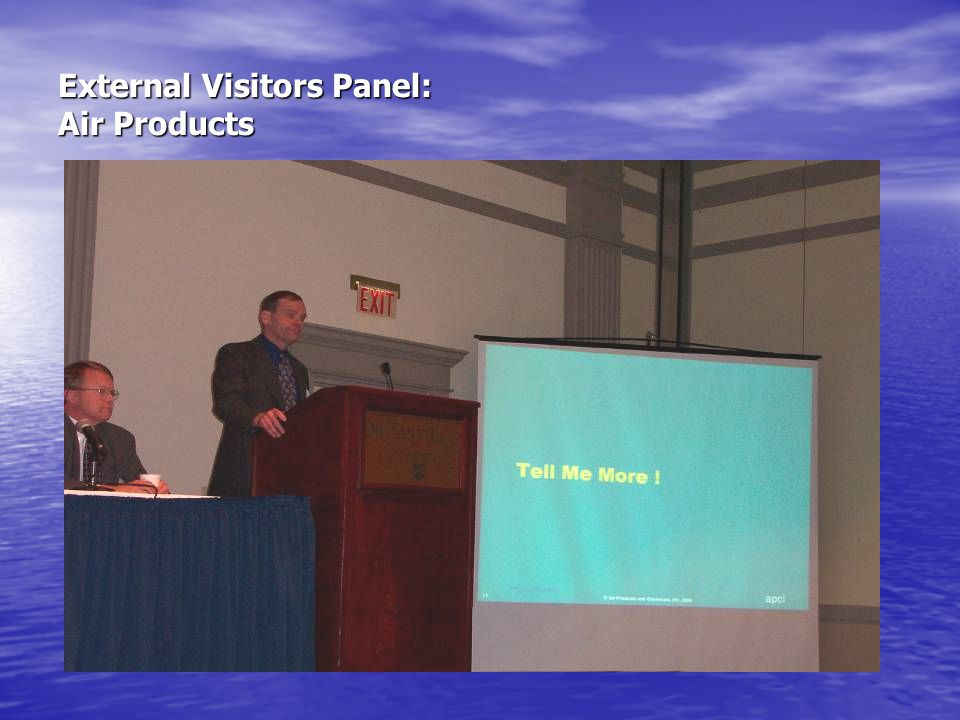 External Visitors Panel: Air Products