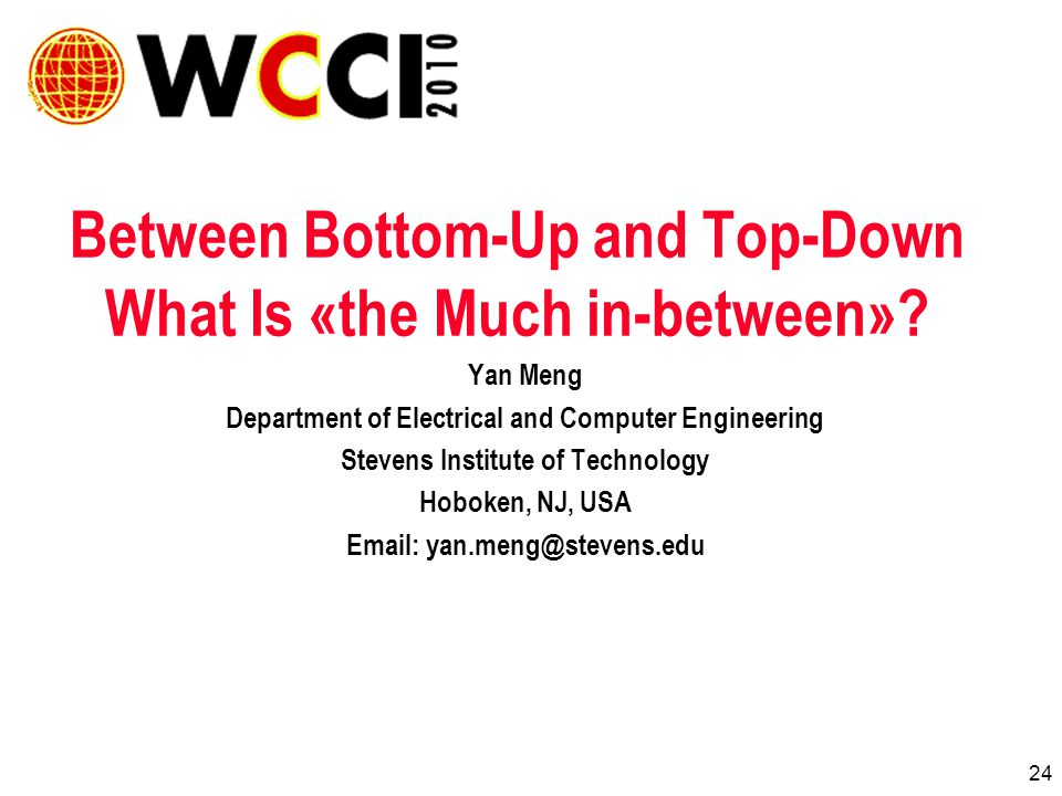 24 Between Bottom-Up and Top-Down What Is «the Much in-between».