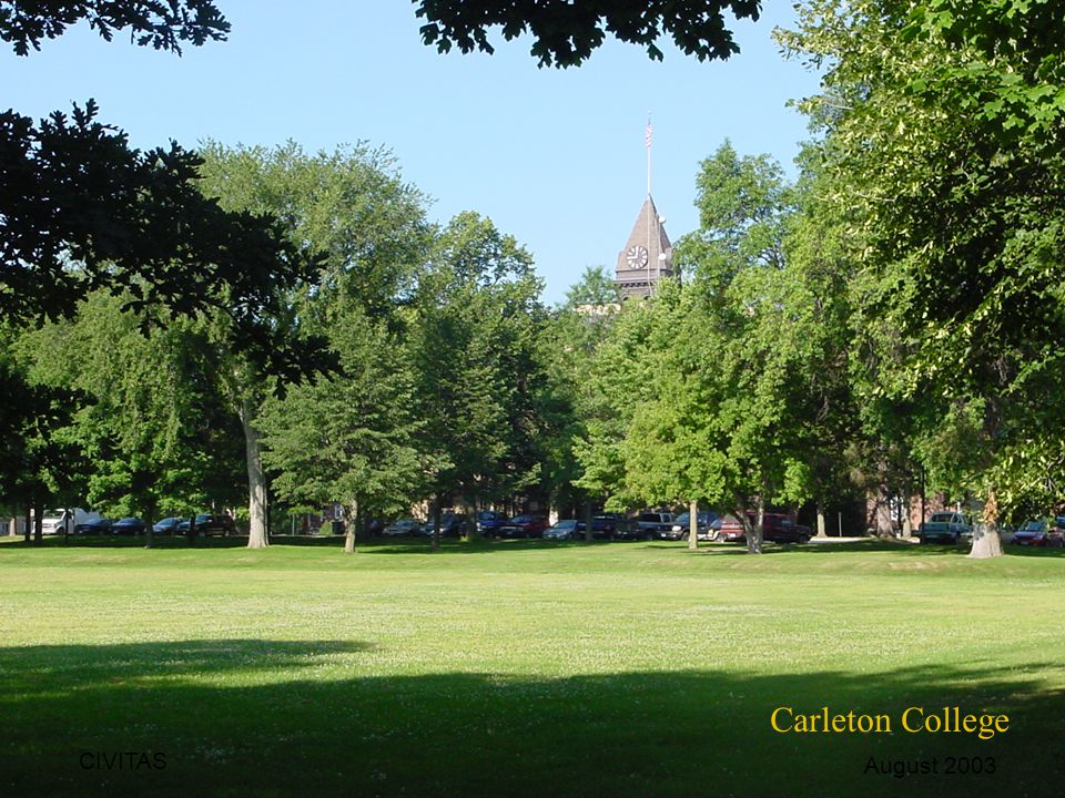 Carleton College CIVITAS August 2003