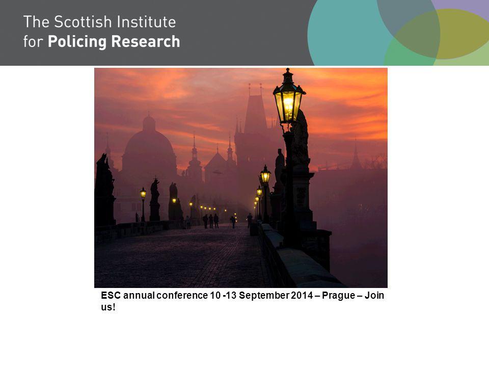 ESC annual conference 10 -13 September 2014 – Prague – Join us!