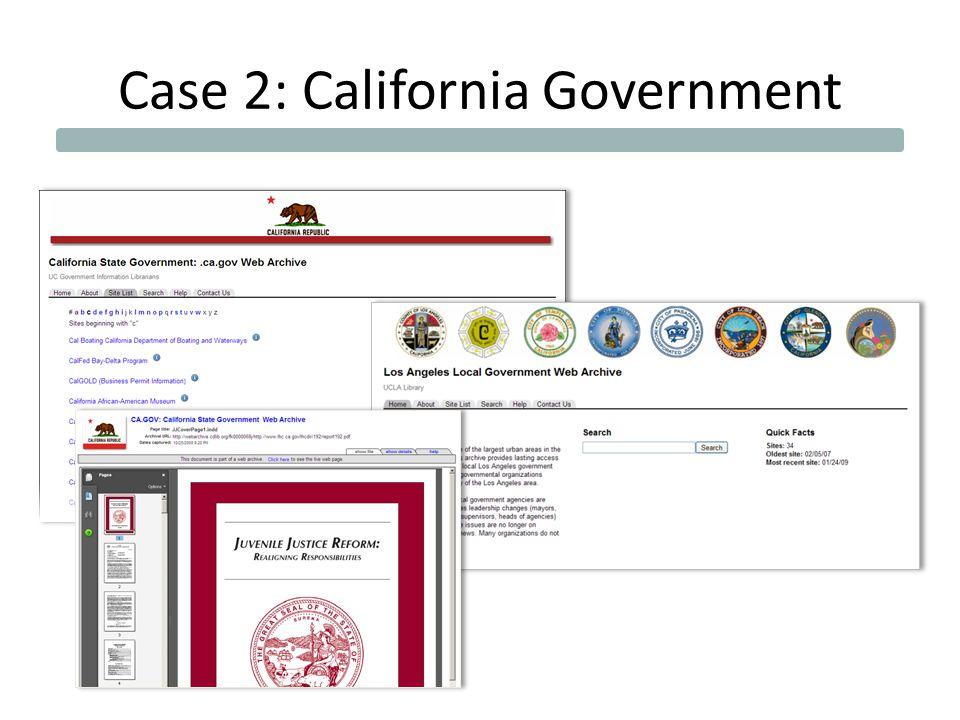 Case 2: California Government