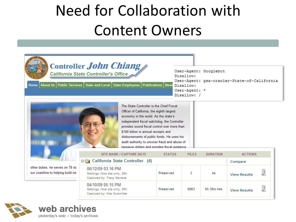 Need for Collaboration with Content Owners