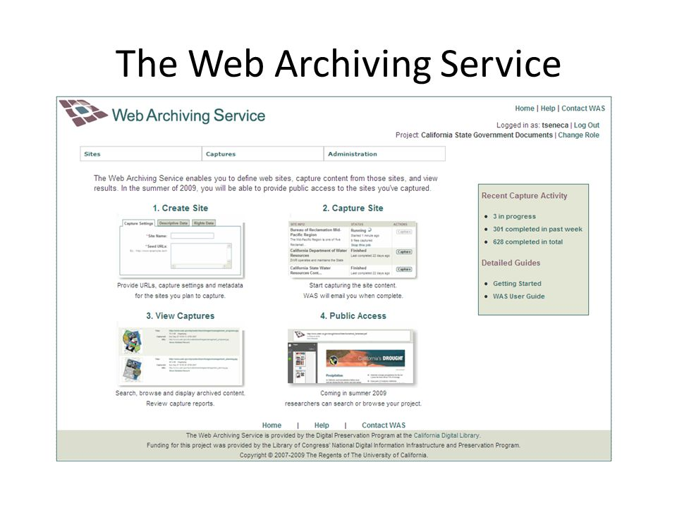The Web Archiving Service