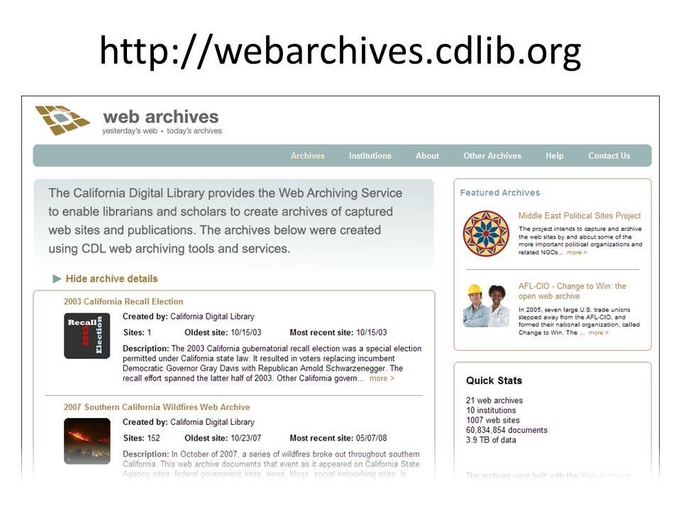 http://webarchives.cdlib.org