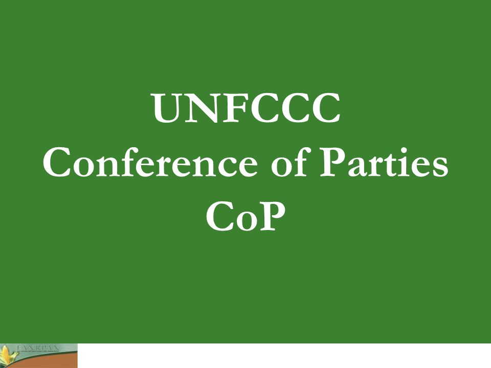 UNFCCC Conference of Parties CoP