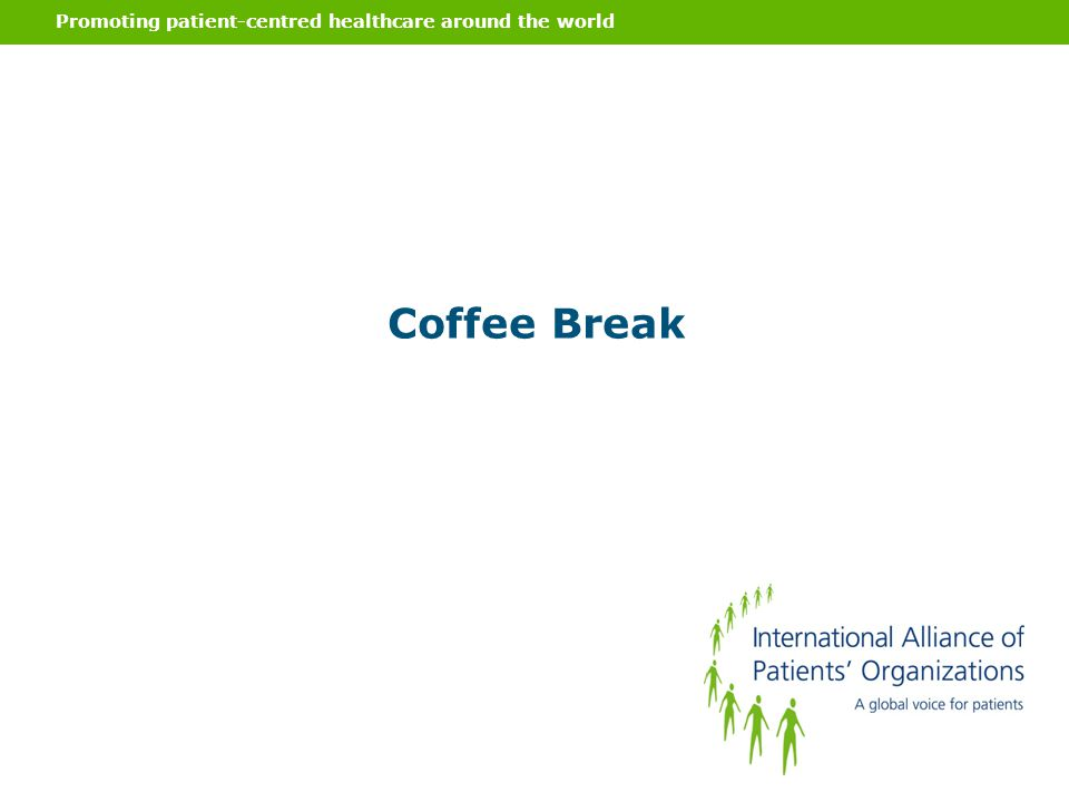 Promoting patient-centred healthcare around the world Coffee Break